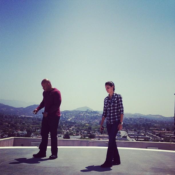 NCIS Los Angeles BTS Picture