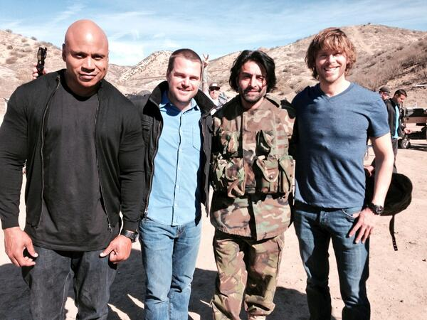 "NCISLA ""Spoils Of War"" BTS Picture"