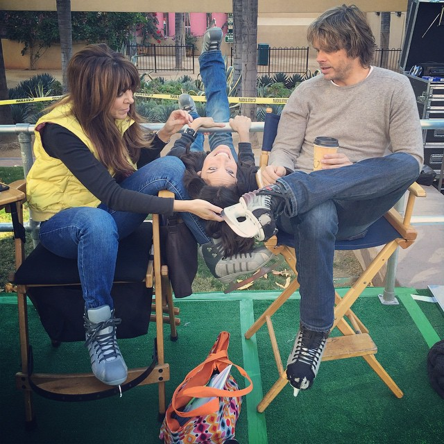 NCIS Los Angeles Ep 'Humbug' BTS Picture