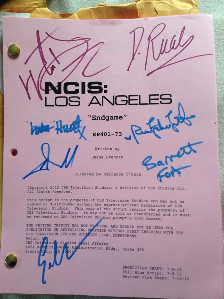 Script with Autographs