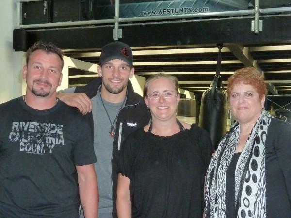 Marc, Eric Linden, sindee, Diane at AF Stunts in 2012