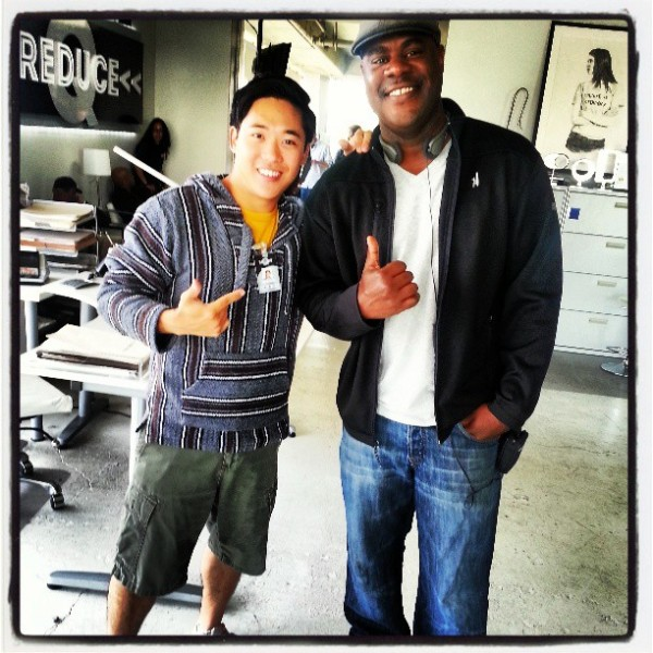 Bobo Chang with NCIS Los Angeles Writer Joey Wilson -- ©RobertBoboChang