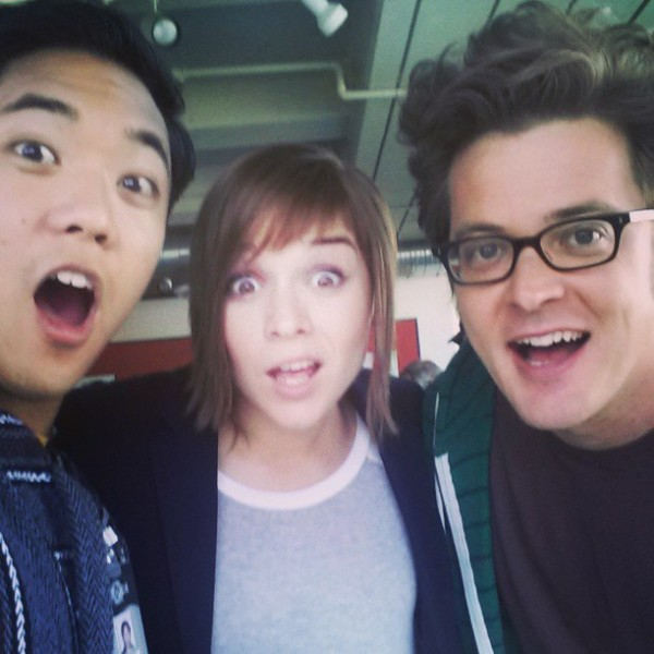 Bobo Chang and Chris Dotson with NCIS Los Angeles Actress Renée Felice Smith --- ©RobertBoboChang