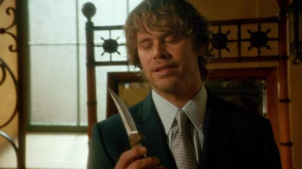 DEEKS: I never had a girl give me her, uh... knife before. Does that mean we are... official ? KENSI: Sometimes a knife is just a knfe.