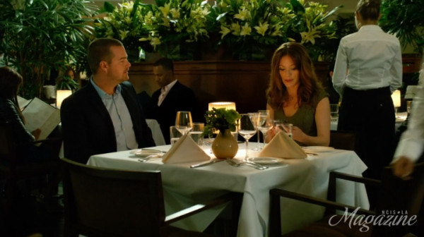 Callen and his blind date Jo... NO COMMENT !!
