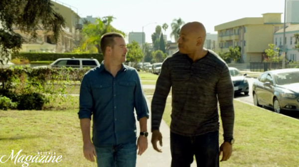 """THIS is about THAT."" Great Bromance scene !! So Callen is still ""dating"" Joelle, huh-uh..."