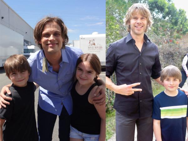 HannaH and Stone Eisenmann with Matthew Grey Gubler from 'Criminal Minds' and Stone Eisenmann with Eric Christian Olsen from 'NCIS Los Angeles'