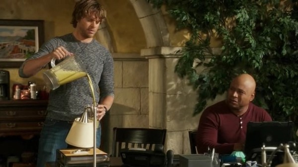 YESSS to Sam's face... to the drink AND Deeks' overuse of nicknames...