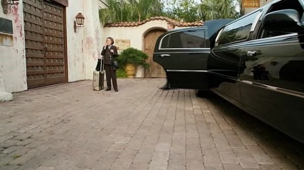 Picked up by a limo? Only Hetty. ;)