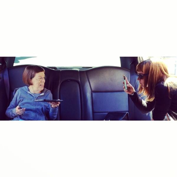 Me and my bud, Linda. Behind The Scenes of #NCISLA #seasonpremiere #8/29 @cbsphoto @ncisla -- @ReneeFSmith