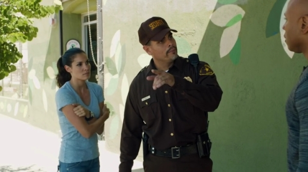 Though it was just a short scene I liked Kensi and Sam together for once...