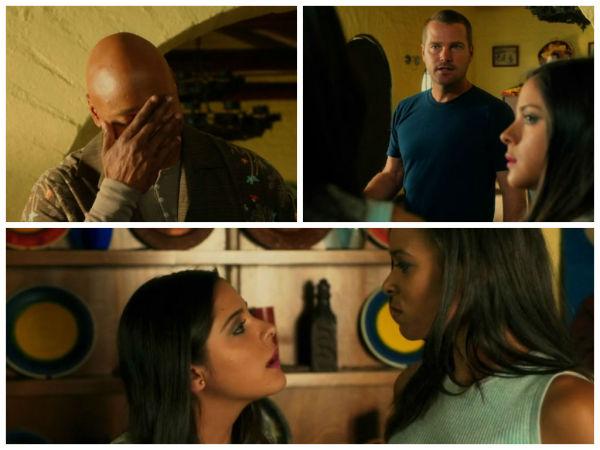 The girls fighting over Callen...