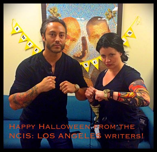 No explanation needed. @ebroad is a genius. #NCISLA #HalloweenCostumes via @DaveKalstein