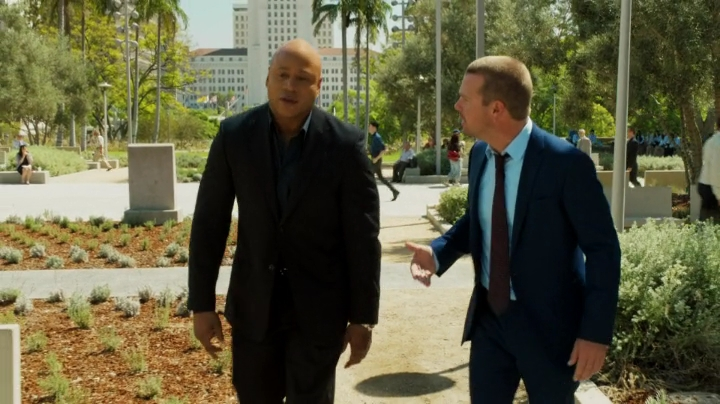 Callen and Sam in suits... Hetty is a mind reader... ;)