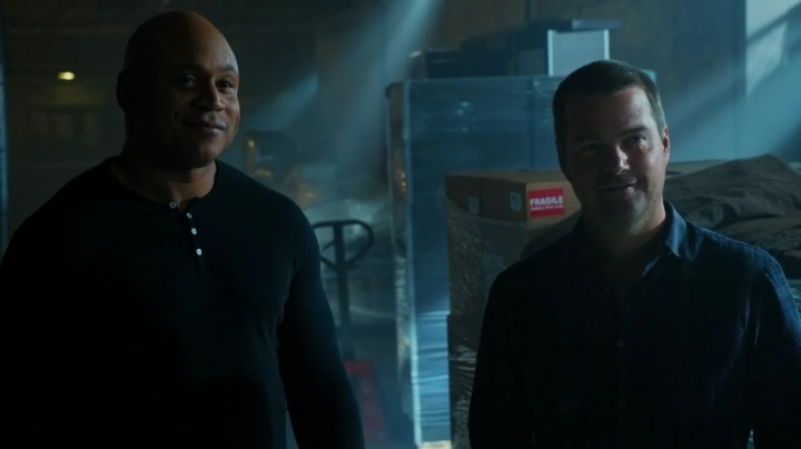 Callen's right - the guy does look kind of happy... #Weird