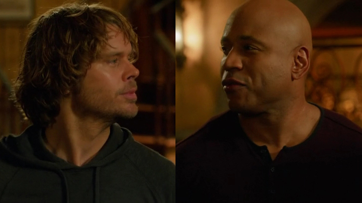 """G'Night, John-Boy."" ""Shut up, Deeks."""