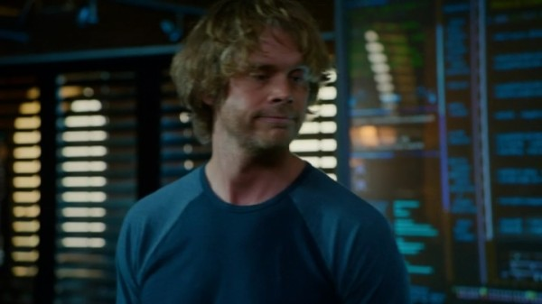 Deeks knew better than to comment on the partner switch here...