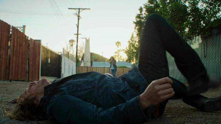 Deeks 'whining' after he took down a suspect... sooo Deeks-ish... ;)