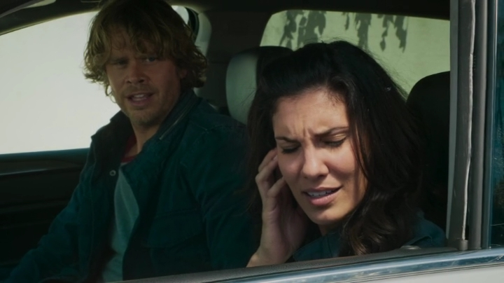Deeks yelling at her because he thought she didn't hear him... *snort*