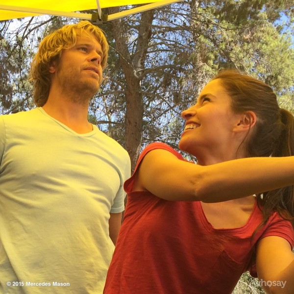 @MercedesMason -- Dear @ericcolsen, You amuse me. To no end. Umm...what is happening in this photo?? #NCISLAseason7