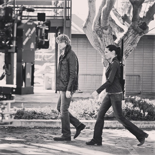 """NCIS Los Angeles """"Three Hearts"""" BTS Picture"""